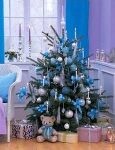 I love blue and silver ornaments on our christmas tree... gives the feel of a white christmas even on a hot Aussie day.