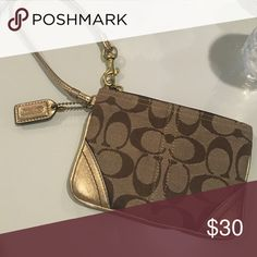 Coach Wristlet Gold, barely used, Wristlet Coach Bags Clutches & Wristlets