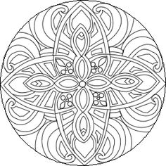 Difficult Mandala Coloring Pages | click mandala to begin free online mandala coloring therapy
