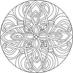 Difficult Mandala Coloring Pages | click mandala to begin free online mandala coloring therapy