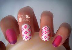 Reto tipos de esmaltes ~Mood~ Ever Shine, gama Thermo, 03 Dark violet pink metalic nail dots Sensinity 02