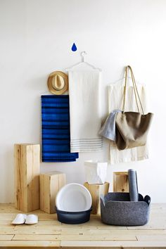 Towels and stuff for Sauna | Scandinavian Deko