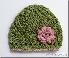 crocheted baby hat by marie