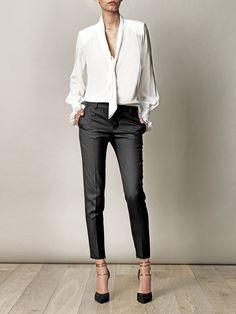 Noir et Blanc répartis silhouette - Saint Laurent - #magnifique