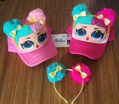 Fiesta lola Elmo Party, Doll Party, Foam Crafts, Diy And Crafts, Lol Doll Cake, Girls Nail Designs, Diy Wig, Eid Crafts, Cap Decorations