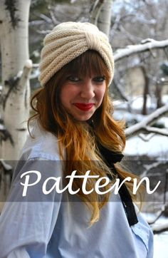 KNIT PATTERN for The Purl Knit Turban by SansLimitesCrochet