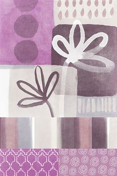Purple Patchwork- Contemporary Art by Linda Woods