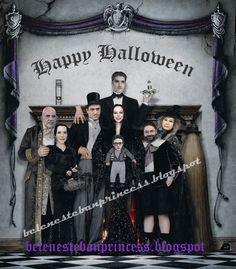 La familia Addamsalvame en Halloween Belén Esteban
