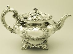 Old tea pots | SOLD - Sterling Silver Teapot - Antique Victorian
