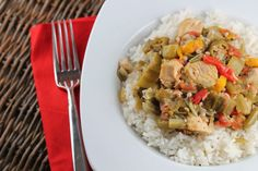 Smothered Okra with Chicken and Rice - haven't tried okra much...but worth checking out