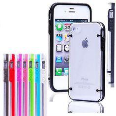 bagliore trasparente in caso buio per iPhone 4/4S (colori assortiti) – EUR € 1.83