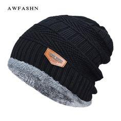 Mens Ferrari-Logo Wool Beanie Cap Knit Cap Fine Knit Beanie Skull HatsWinter Soft Thick Warm
