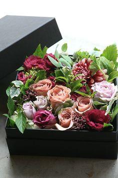 winter flower decor - box