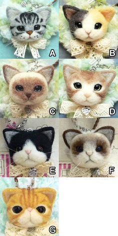 貓貓頭手袋吊飾 | 手作仔 HandCrafters --- 羊毛氈專門店