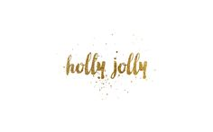 holly jolly gold foil desktop wallpaper 1920 x 1200 #christmas