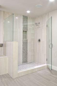 Vertical Shower Accent Tile Ideas Google Search Master Bath
