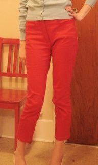 slim high waisted pants pattern