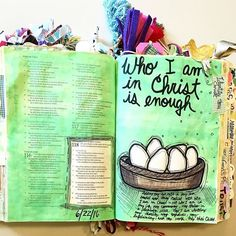 It is better to take refuge in the Lord than to trust in man. Psalm 118:8 . . ---Holding my own eggs, in my own basket, and being content with who I am in Christ--- Thank you @sniequist again for your words that speak to my heart in your devotional. . #illustratedfaith #illustratedfaithdaily2016 #JillsJournaling #ESVInterleavedJournalingBible #biblejournaling #EggsInMyBible