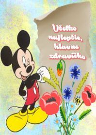 detské priania Mickey Mouse, Disney Characters, Fictional Characters, Happy Birthday, Crafts, Craft Ideas, Pictures, Fotografia, Happy Brithday
