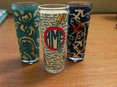 Hand-painted Lilly Pulitzer Shot Glasses. $15.00, via Etsy.