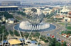 (One of the) New York World's Fair - This is the Unisphere built by the U. S. Steel Corporation for the fair - still standing in Flushing Meadows Corona Park in Queens, New York.
