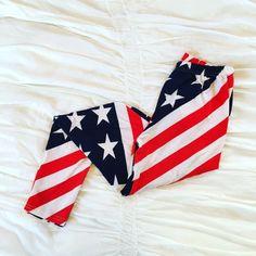American Flag Leggings #USA  Never worn. No trades. Pants Leggings