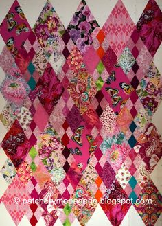 Before I start telling you about the replacement four patch diamonds I've been making, I need to remind you of something. The quilt I am m...