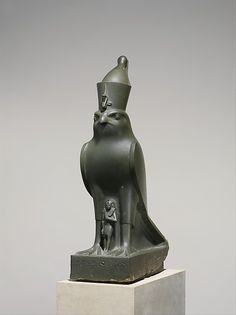 God Horus Protecting King Nectanebo II | Late Period Dynasty 30 reign of Nectanebo II Date:360–343 B.C. | The Met