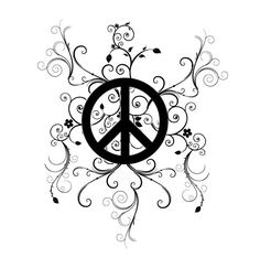 black peace tattoo - Google Search Cool Tattoos, Awesome Tattoos, Peace Sign Tattoos, Terrible Tattoos, Sun Moon Stars, Images And Words, Peace And Love, Tattoo Designs, Hippie
