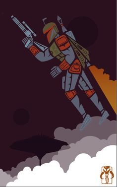 """""""I Deliver"""" By By Jeffrey Veregge - Pop Culture Art in a Traditional Native American Style ! Star Wars Poster, Star Wars Art, Fox Kids, Star Wars Wallpaper, Iphone Wallpaper, Native American Artists, Star Wars Boba Fett, Graphic Artwork, Comic Book Artists"""