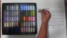 Making a colour chart - Pastel painting course 33 Oil Pastel Techniques, Painting Courses, Colour Chart, Soft Pastels, Art Tutorials, Color Schemes, Ms, Eyeshadow, How To Apply