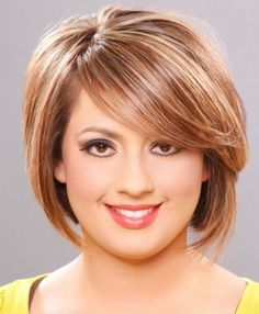 Short Hairstyles Round Face Thin Hair