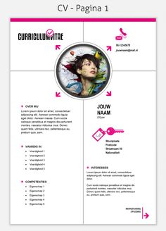 CV template 208 om te downloaden