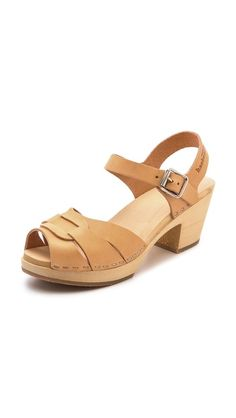 swedish hasbeens / peep toe high sandals