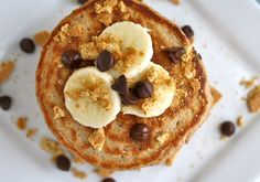 Banana S'mores Pancakes - Serves one hungry person.