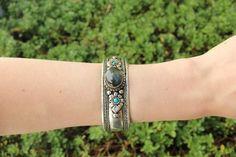 Bohemian laborite adjustable cuff $9.95 USD  #boho #gypsy #bohojewelry #hippiejewlery #gypsyjewelry
