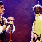 I love these two!! ~ Enjolras and Grantaire ~ Ramin Karimloo and Hadley Fraser in the the 25th anniversary production of Les Miserables