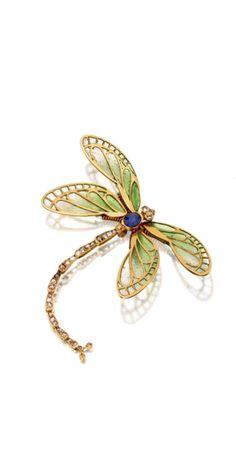 Art Nouveau dragonfly brooch - circa 1900. | Sotheby's