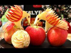【苹果鸟的做法】 How To Make an Edible Apple Birds   Fruit & Vegetable Carving - YouTube