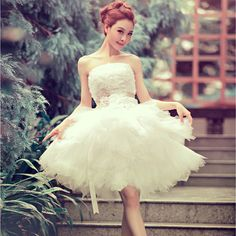 Free shipping 2015 new arrival ball gown short lace sweetheart sequined flower elegant women formal wedding dress
