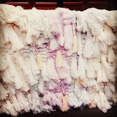 textile art in pink