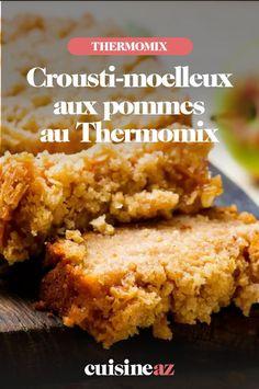 Le crousti-moelleux aux pommes est un gâteau de saison aux fruits à préparer à l'aide du Thermomix. Cornbread, Aide, Ethnic Recipes, Robot, Yummy Recipes, Cooking Recipes, Sugar Cake, Thermomix, Millet Bread