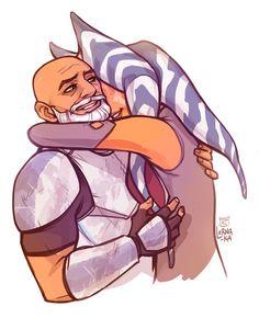 Star Wars - Captain Rex x Ahsoka Tano - Rexsoka Star Wars Fan Art, Theme Star Wars, Star Wars Rebels, Star Wars Clone Wars, Star Wars Clones, Star Citizen, Amour Star Wars, Pixar, Star Wars Personajes