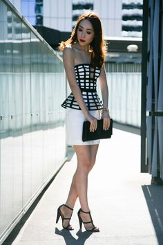 DERBY DAY OUTFIT IN SASS AND BIDE BUSTIER AND SKIRT | The Tia Fox