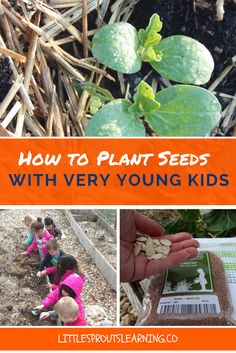 It takes a little finesse and a lot of patience to plant seeds for the garden with very young children, but there is so much for kids to learn in the garden