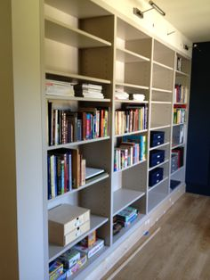 Fitted bookcase, part of a home office installation.