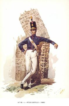 Artigliere portoghese Empire, Military Costumes, Military Uniforms, French Revolution, Napoleonic Wars, Military History, Battle, Army, Pictures
