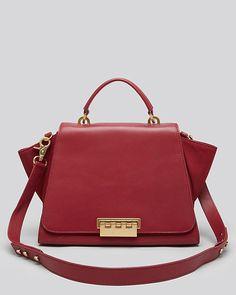 zac zac posen satchel eartha soft top handle in My Style Bags, Burgundy Bag, Satchel, Crossbody Bag, Fab Bag, Best Bags, Zac Posen, Fashion Watches, Evening Bags