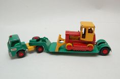 Ford Dyson Low Loader w/ Case Bulldozer k-17 Matchbox Lesney King Size made in England 1960's Die Cast Toy Collection. by RememberWhenToys on Etsy