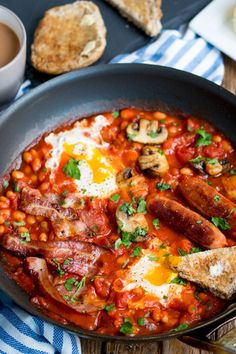 Love this breakfast only I would use leave out the bacon